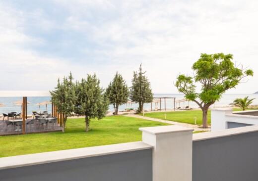 Wonderful sea views from the balcony at Doryssa Coast's seaview apartments in Samos