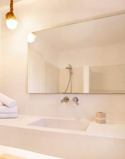 Bathroom at Doryssa Coast's family apartments in Samos