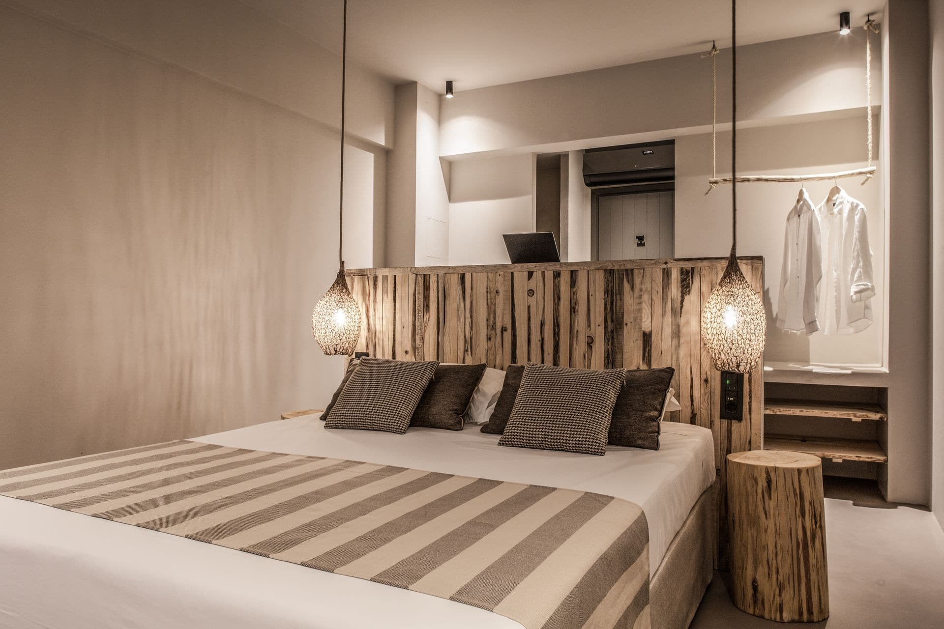 The bedroom of the luxury suite with pool in Samos by Doryssa Boutique Hotel