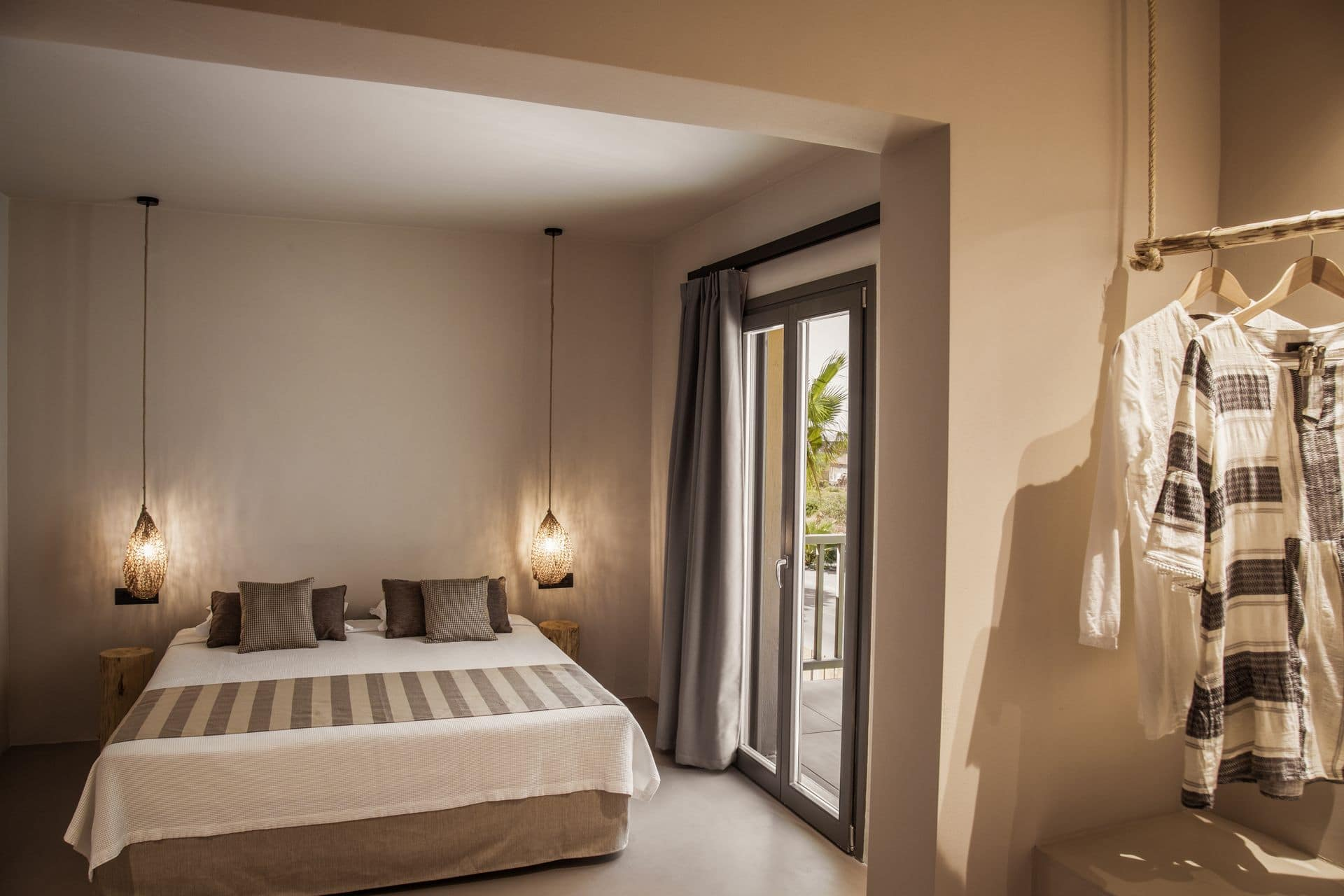 The bedroom of Doryssa Boutique Hotel's suite for couples in Samos