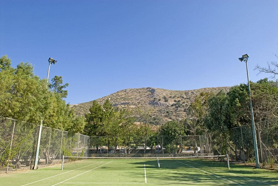 Courts and other facilities at Doryssa Hotels provide guests with exciting activities in Samos