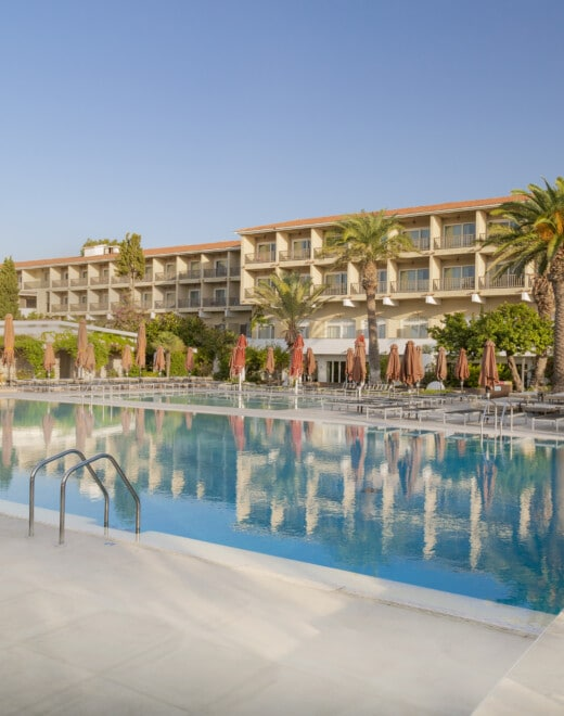 Doryssa Seaside's suites with sea view in Samos, outer building view