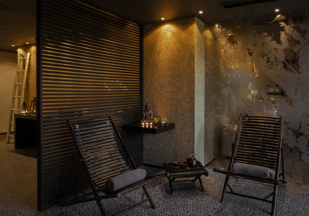 The relaxing spa setup that guests can experience at our Doryssa hotels with spa in Samos