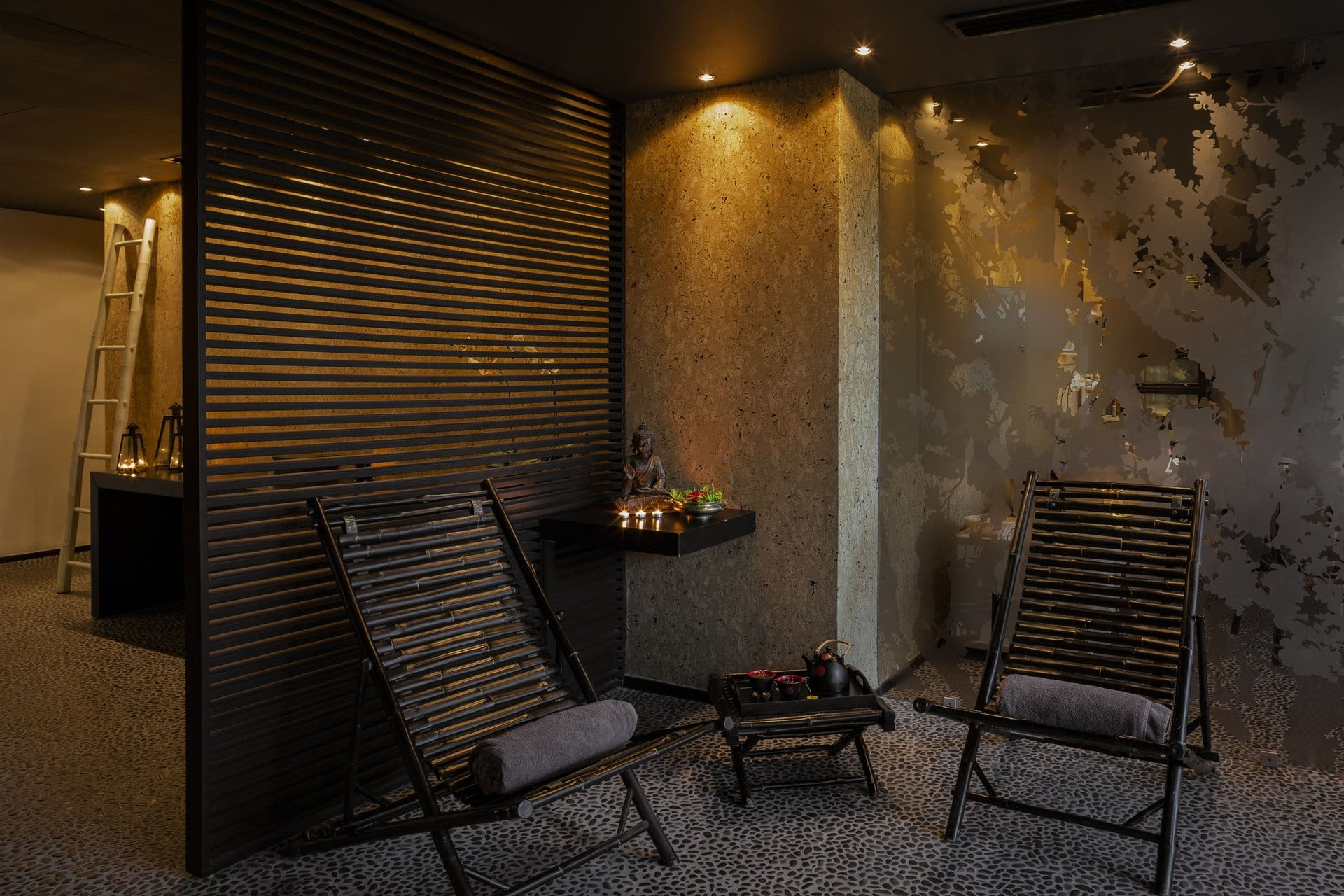 The relaxing spa setup that guests can experience at our luxury hotels in Samos