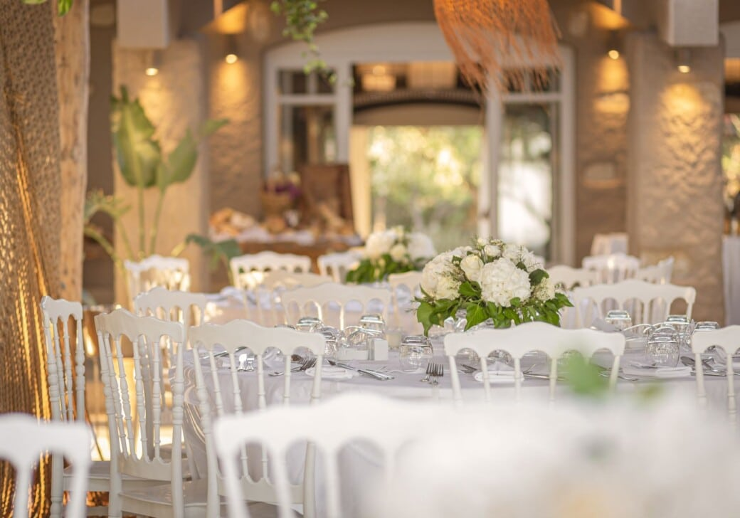 An elegant setting for samos weddings and other social events at Doryssa Hotels