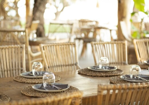 Table set at our top restaurants in samos found in Doryssa Hotels