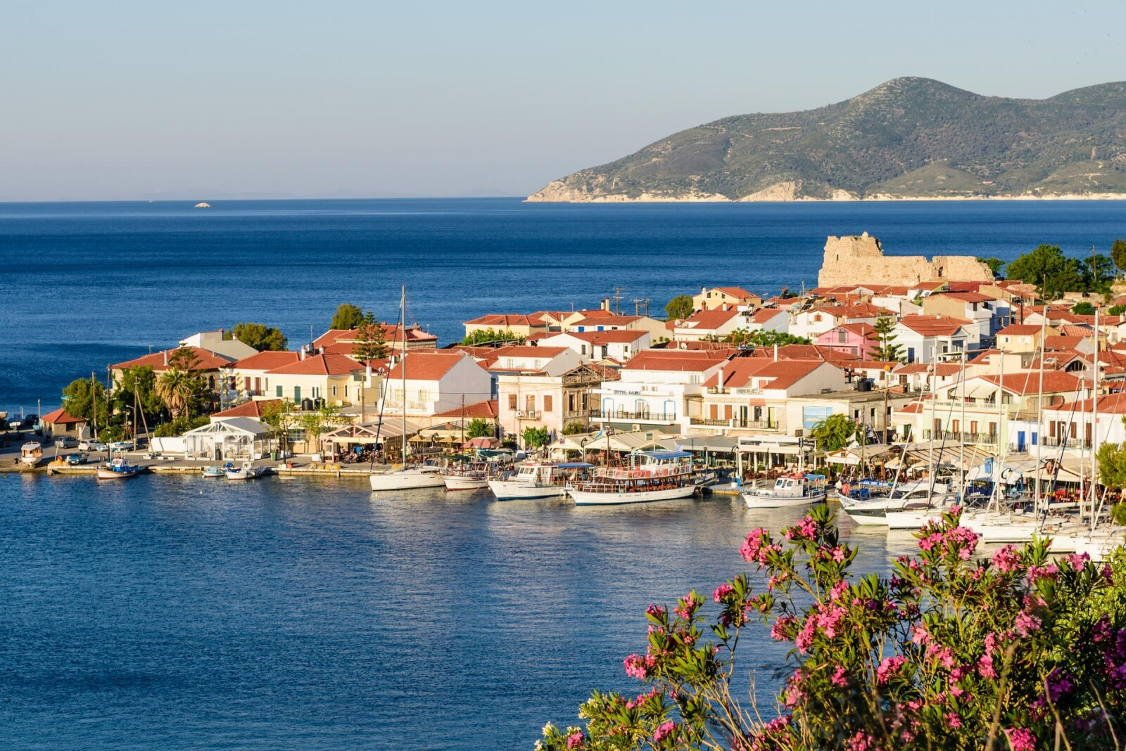 Experience delightful holidays in Pythagoreio of Samos for a vacation filled with picturesque visuals of Pythagoreion port