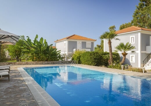 The main pool at Doryssa Coast Apartments, part of the group's luxury hotels in Samos
